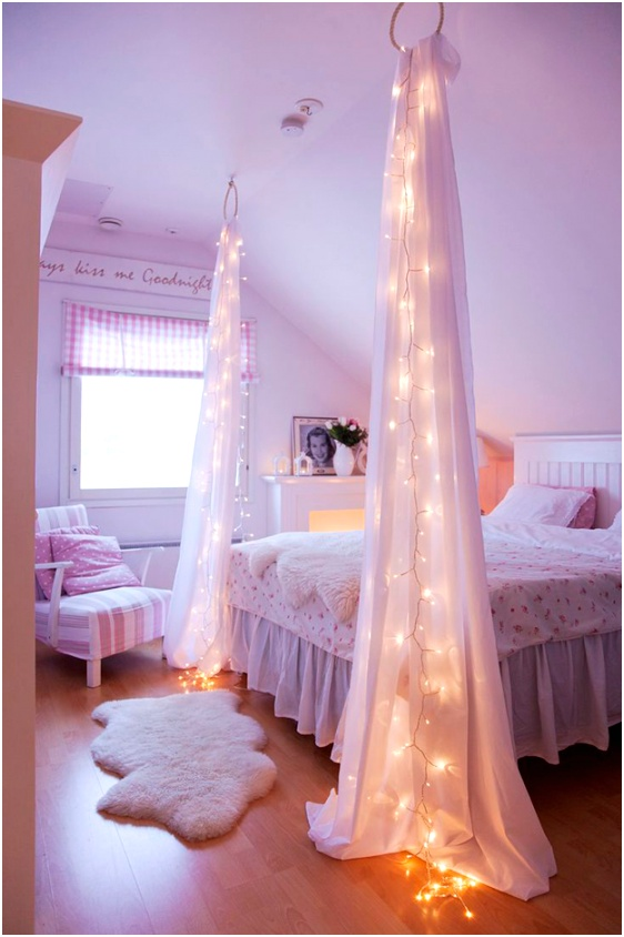 year round string light room decor 30