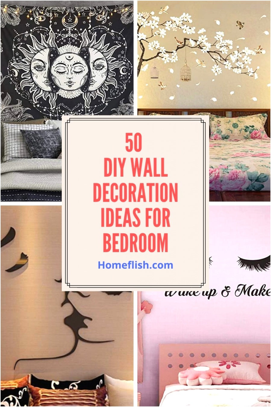 50 DIY Wall Decoration Ideas for Bedroom