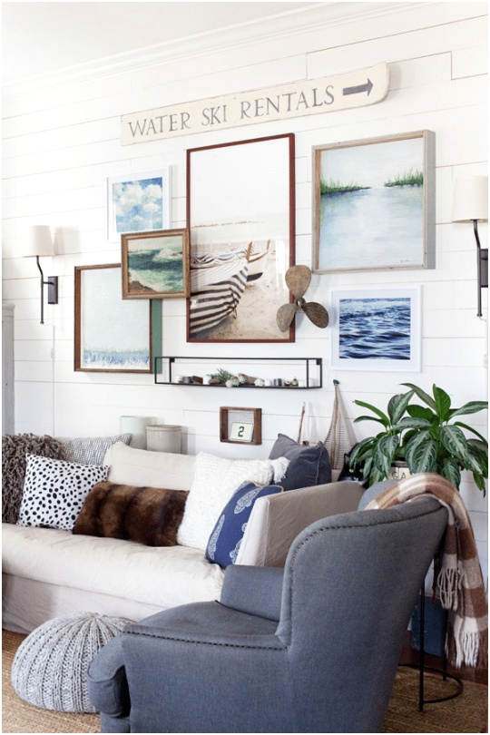 The Lettered Cottage Farmhouse Living Room Gallery Wall
