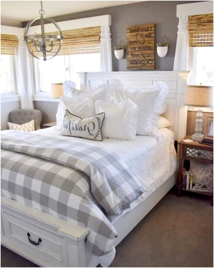30 Cozy Farmhouse Bedroom Decorating Ideas For Your Apartment 1
