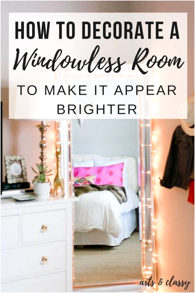 Room Ideas How to Decorate a Room without Windows 2