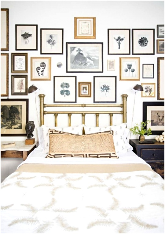 Make a gallery wall behind the bed for a focal point 3