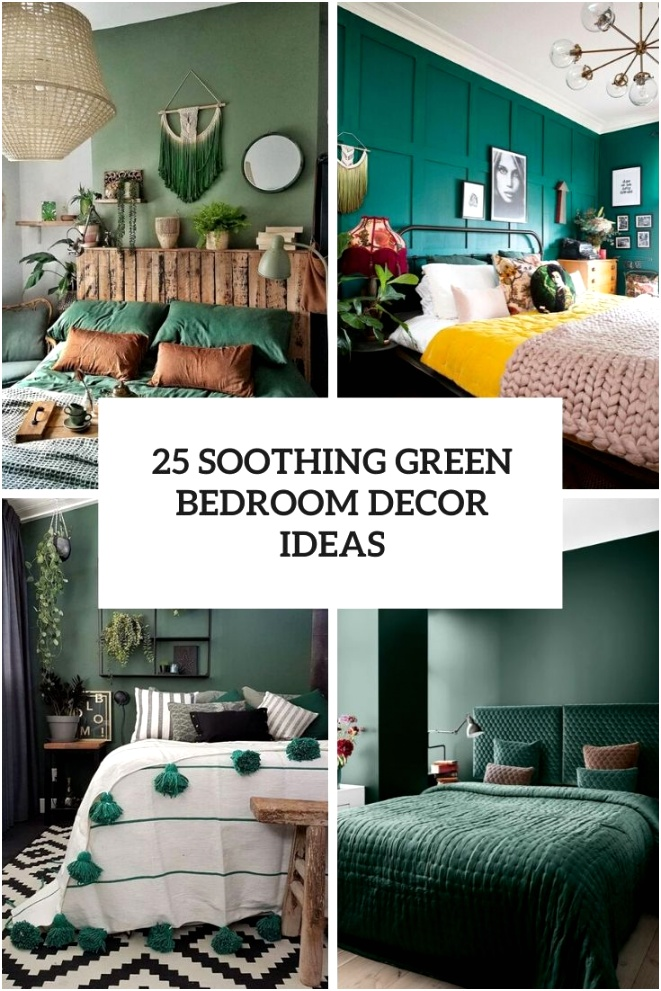 25 soothing green bedroom decor ideas cover