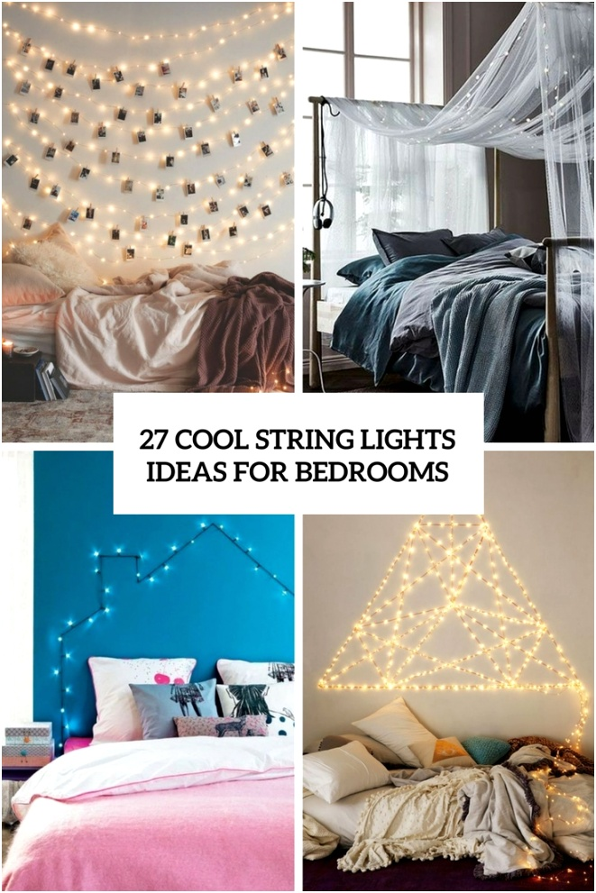 27 cool string lights ideas for bedrooms cover