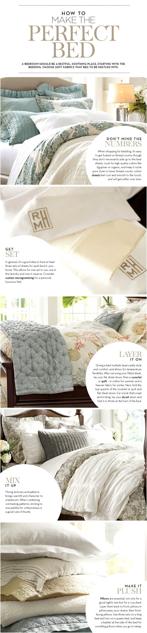 how to make the perfect bed pottery barn
