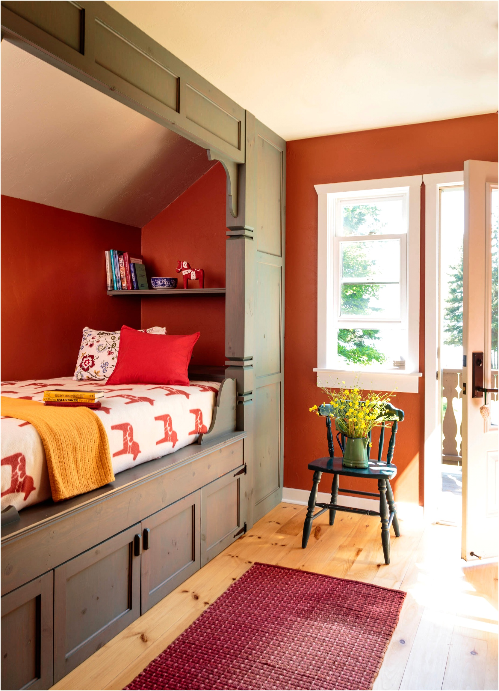 13 red bedroom ideas pop of red