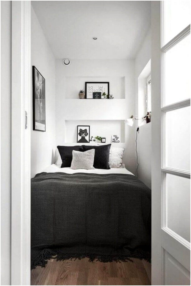 29 A Bed Sized Room with a Few Shelves 683x1024