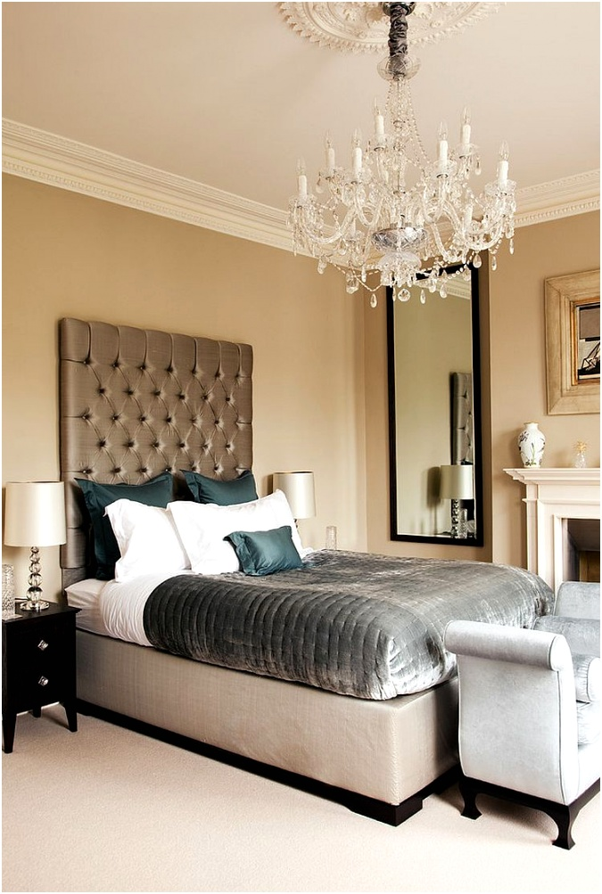 Clarance Chandelier adds traditional panache to the bedroom