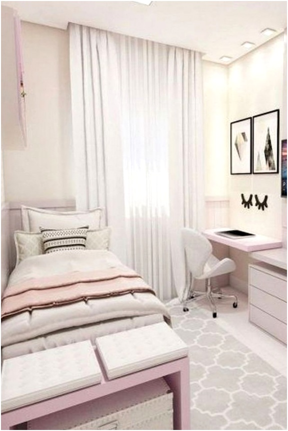 33 Ideas For Small Apartment Bedroom 1