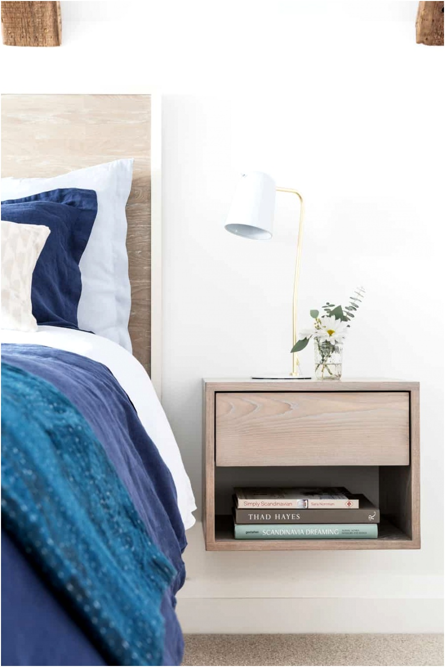 attic bedroom ideas floating end tables