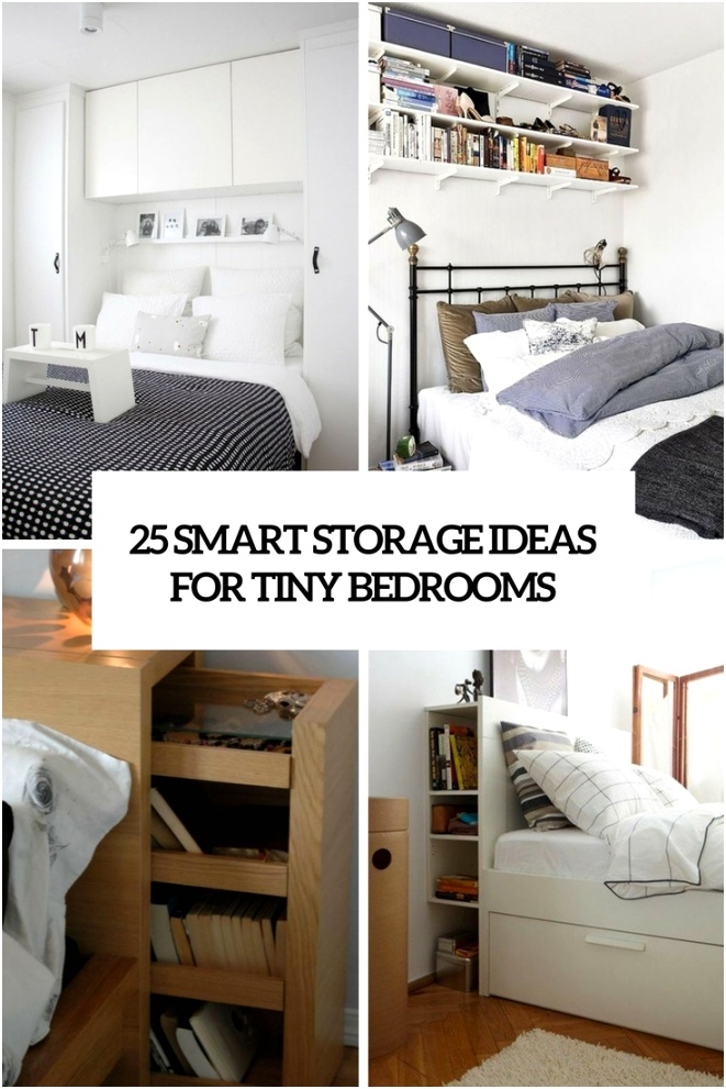 25 smart storage ideas for tiny bedrooms cover