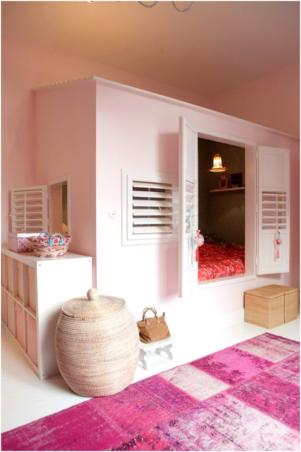 Amsterdam pink rooms for girls Kids Transitional with tropical laundry hampers kids bedroomgender neutral bedroom ideas
