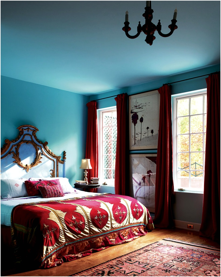 10 Chic Ways to Decorate in Red White Blue bedroom ideas luxury homes