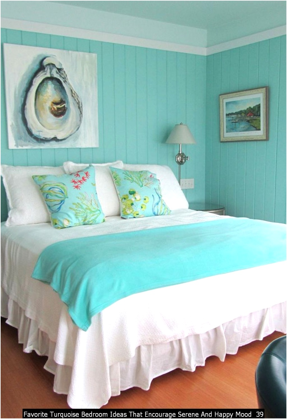 Favorite Turquoise Bedroom Ideas That Encourage Serene And Happy Mood 39